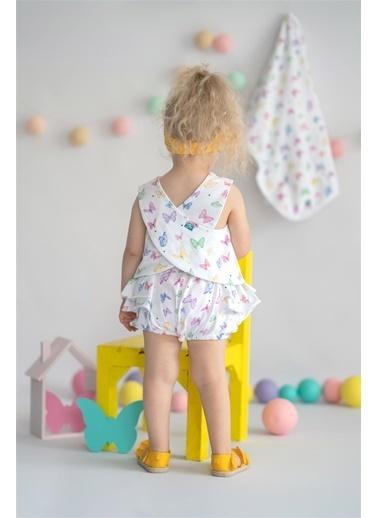Nila Kids Butterfly Organik Kız Bebek Bluz Beyaz